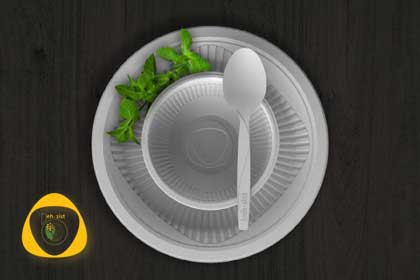 Disposable-tableware